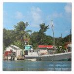 Barcos atracados en Antigua Azulejos Ceramicos