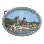 Barcos atracados en Antigua Hebilla De Cinturon Oval