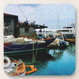 Barcos atracados en Newport RI Posavasos