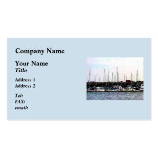 Barcos atracados Norfolk VA Plantillas De Tarjetas Personales