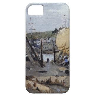 Barcos bajo construcción de Berthe Morisot Funda Para iPhone SE/5/5s