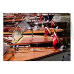 Barcos clásicos tarjeta pequeña