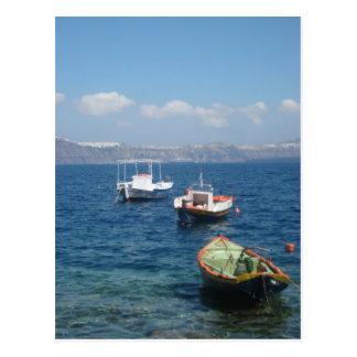 Barcos coloridos postal