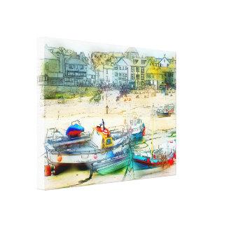 Barcos como pintura lona estirada galerias