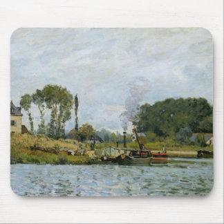 Barcos de Alfred Sisley el | en la cerradura en Tapetes De Raton
