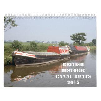 Barcos de canal británicos históricos 2015 calendarios
