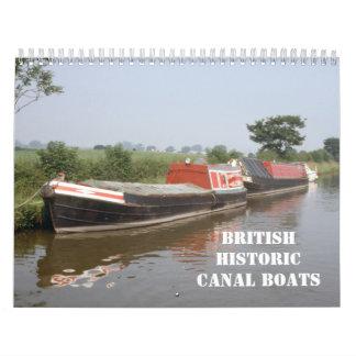 Barcos de canal británicos históricos 2016 calendario de pared