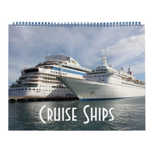 Barcos de cruceros calendario de pared