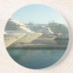 Barcos de cruceros en la salida del sol posavasos manualidades