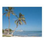 Barcos de cruceros en maya de la costa postales