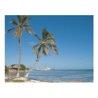 Barcos de cruceros en maya de la costa tarjeta postal