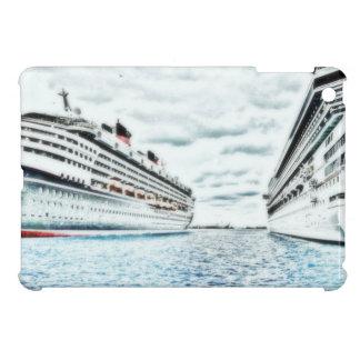 Barcos de cruceros en tema náutico del dibujo de l