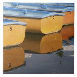 Barcos de fila de Henley-en-Thames en el río Támes Azulejo Cuadrado Grande