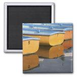 Barcos de fila de Henley-en-Thames en el río Támes Imán Cuadrado