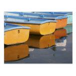 Barcos de fila de Henley-en-Thames en el río Tarjeta Postal
