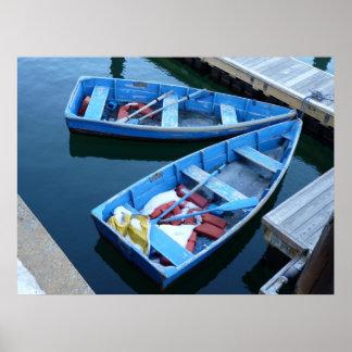Barcos de fila posters