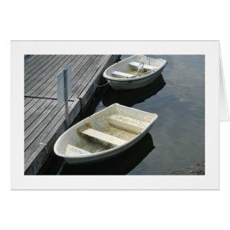 Barcos de fila tarjeta pequeña
