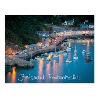 Barcos de Fishguard Pembrokeshire País de Gales de Tarjetas Postales