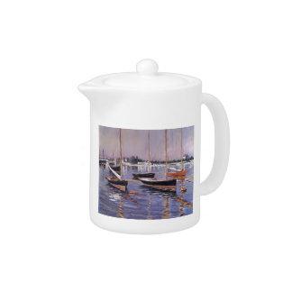 Barcos de Gustavo Caillebotte- en el Sena en Argen