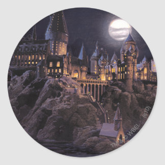 Barcos de Hogwarts a escudarse Etiquetas Redondas