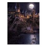 Barcos de Hogwarts a escudarse Tarjeta Postal