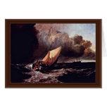 Barcos de Holländische en una tormenta por los Wi  Felicitaciones