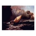 Barcos de Holländische en una tormenta por los Wi  Postales
