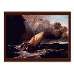 Barcos de Holländische en una tormenta por los Wi  Tarjeta Postal