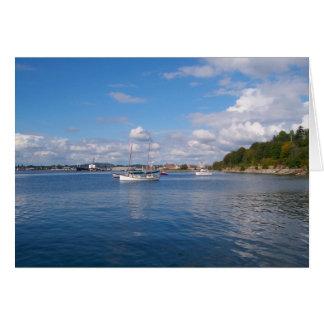 Barcos de la bahía de Bellingham Tarjeta Pequeña