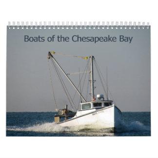 Barcos de la bahía de Chesapeake Calendarios De Pared