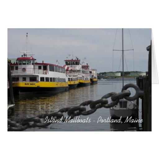 Barcos de la isla de Maine Tarjetas