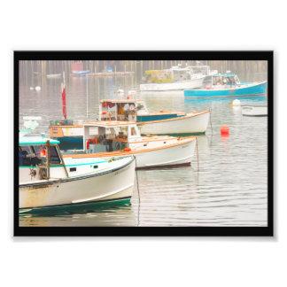 Barcos de la langosta en el puerto bajo, isla impresiones fotograficas