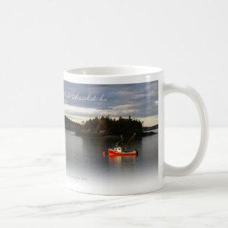 Barcos de la langosta - Lubec, TAZA de CAFÉ de Mai