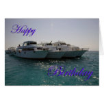 Barcos de la zambullida del feliz cumpleaños felicitaciones