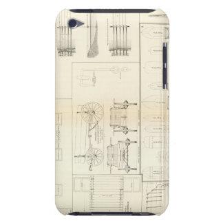 Barcos de los dibujos, puentes, carros, proyectile iPod touch Case-Mate funda