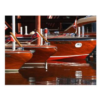 Barcos de madera clásicos, el lago Tahoe… Tarjeta Postal