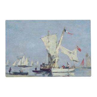 Barcos de navegación, c.1869 salvamanteles