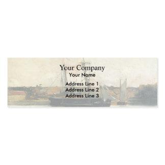Barcos de navegación de John Henry Twachtman-, pue Plantillas De Tarjetas De Visita