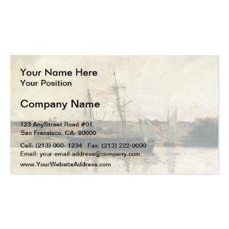 Barcos de navegación de John Henry Twachtman-, pue Tarjetas De Visita