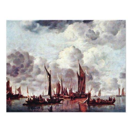 Barcos de navegación en el puerto por Cappelle ene Anuncio