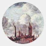 Barcos de navegación en el puerto por Cappelle ene Pegatinas