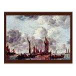 Barcos de navegación en el puerto por Cappelle ene Postales