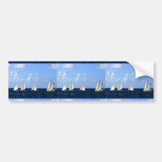 Barcos de navegación pegatina para auto