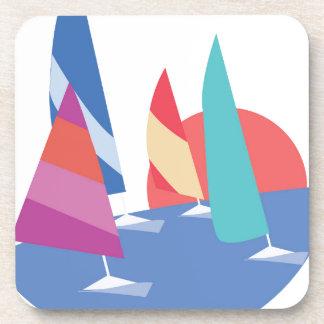 Barcos de navegación posavasos de bebida