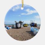 Barcos de pesca de Hastings Ornamento Para Reyes Magos