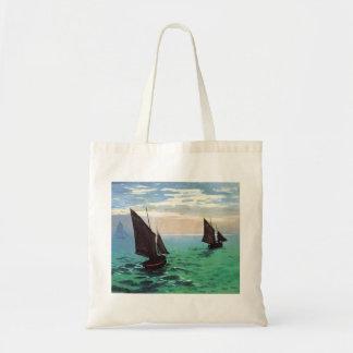 Barcos de pesca de Monet en la bolsa de asas del m