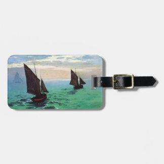 Barcos de pesca de Monet en la etiqueta del equipa Etiquetas De Maletas