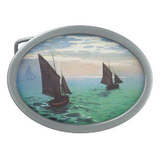 Barcos de pesca de Monet en la hebilla del cinturó Hebillas De Cinturon Ovales