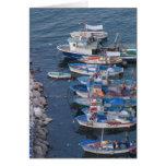 Barcos de pesca de Sorrento Tarjeta