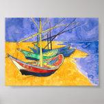 Barcos de pesca de Van Gogh en la bella arte de la Posters